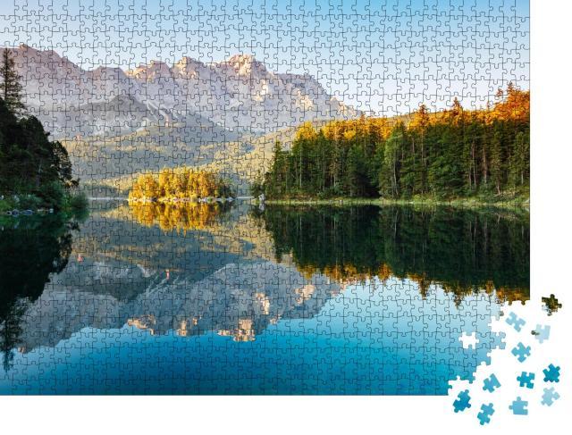 """Puzzle 1000 Teile """"Landschaftlich reizvolle Umgebung in der Nähe des berühmten Eibsees"""""""
