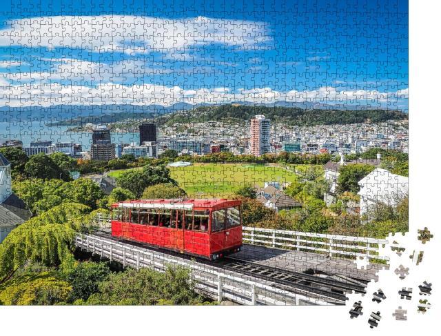 """Puzzle 1000 Teile """"Wellington Cable Car, das Wahrzeichen Neuseelands"""""""