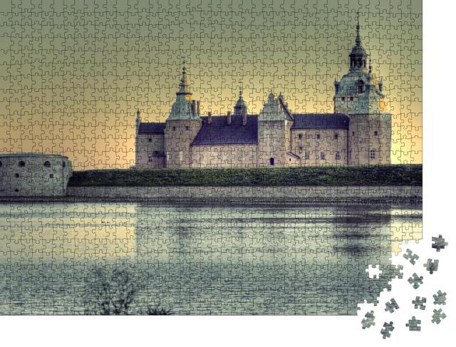 """Puzzle 1000 Teile """"Hdr Foto von Kalmar Schloss im Abendlicht"""""""