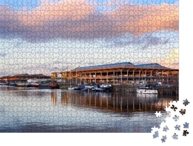 """Puzzle 1000 Teile """"Hafen von Gent, Belgien"""""""