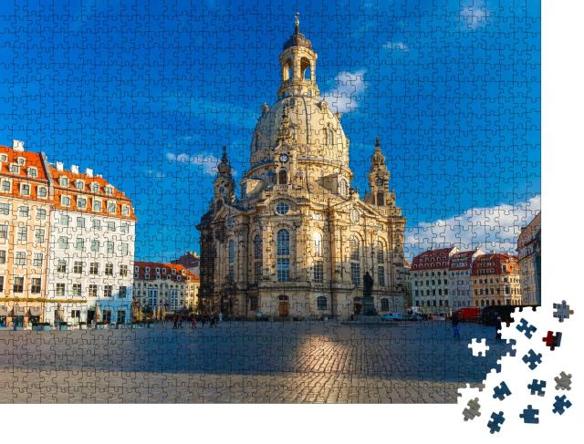 """Puzzle 1000 Teile """"Frauenkirche in Dresden, Deutschland"""""""