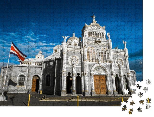 """Puzzle 1000 Teile """"Basilika in Cartago, Costa Rica"""""""