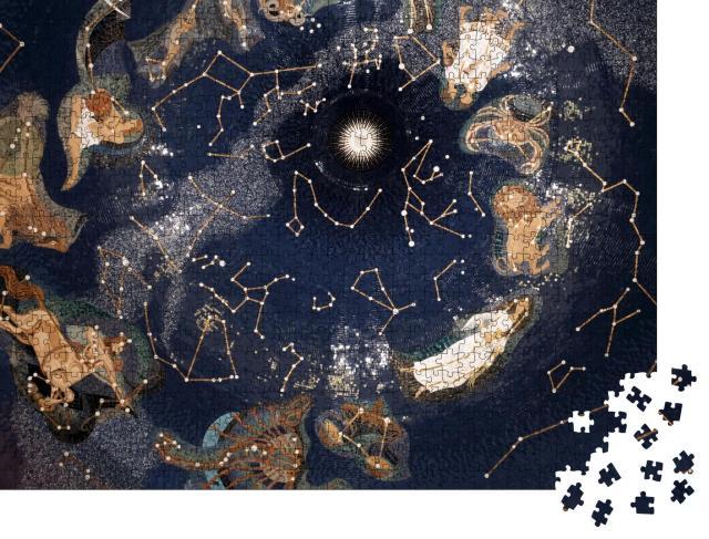 """Puzzle 1000 Teile """"Karte der Sterne mit Sternenbildern"""""""