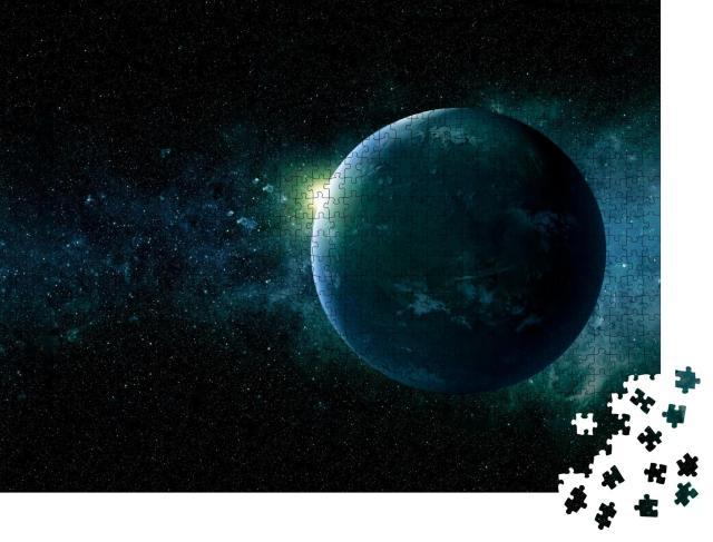 """Puzzle 1000 Teile """"Exoplanet in den Tiefen des Weltraums"""""""