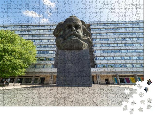 """Puzzle 1000 Teile """"Denkmal von Karl Marx, Chemnitz, Deutschland"""""""