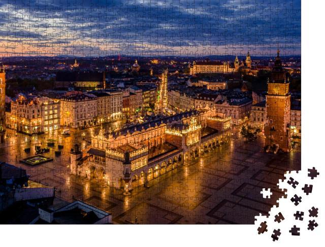 """Puzzle 1000 Teile """"Hauptplatz von Krakau, Polen"""""""