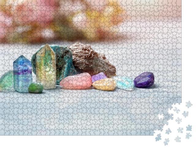"""Puzzle 1000 Teile """"Edelsteine: Mineralien für Entspannung und Meditation"""""""