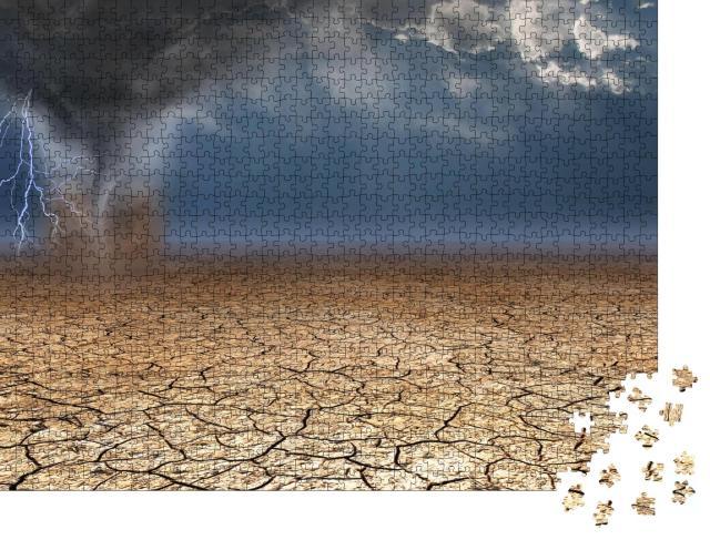 """Puzzle 1000 Teile """"Windhose in der Wüste"""""""