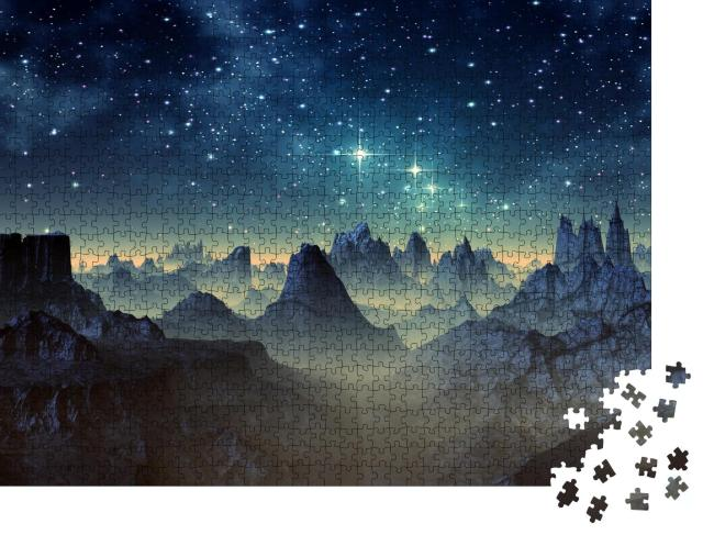 "Puzzle 1000 Teile ""Fantasy: Alien und Planet"""