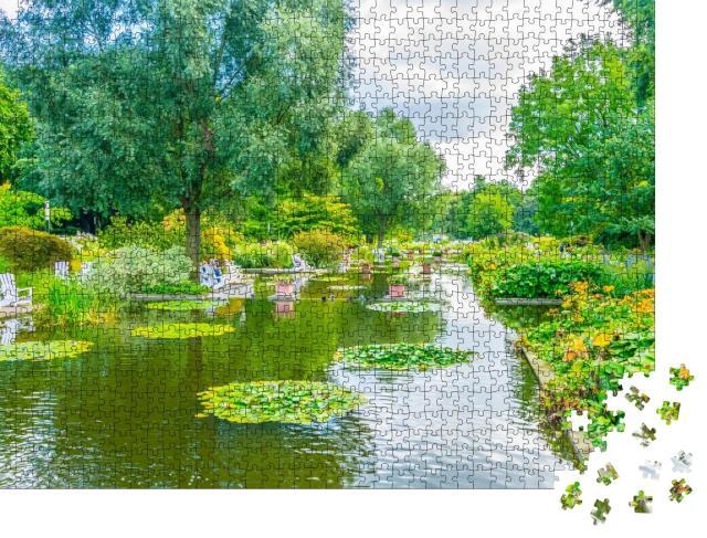 """Puzzle 1000 Teile """"Planten un Blomen, alter botanischer Garten in Hamburg"""""""
