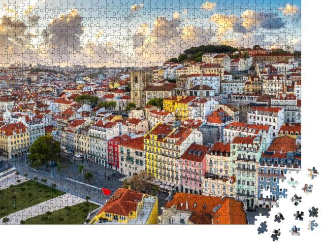 """Puzzle 1000 Teile """"Altes Stadtviertel Alfama, Lissabon, Portugal"""""""