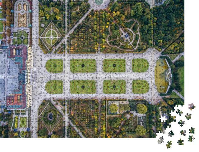 """Puzzle 1000 Teile """"Vogelperspektive: Schloss Schönbrunn mit Garten, Wien"""""""