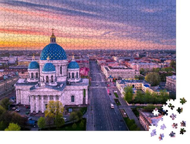 """Puzzle 1000 Teile """"Dreifaltigkeits-Kathedrale, St. Petersburg"""""""