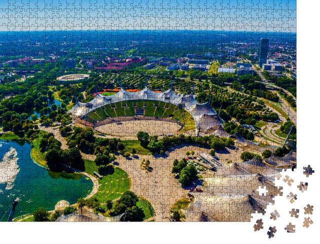 """Puzzle 1000 Teile """"Olympiastadion München, in dem 1972 die Olympischen Spiele stattfanden"""""""