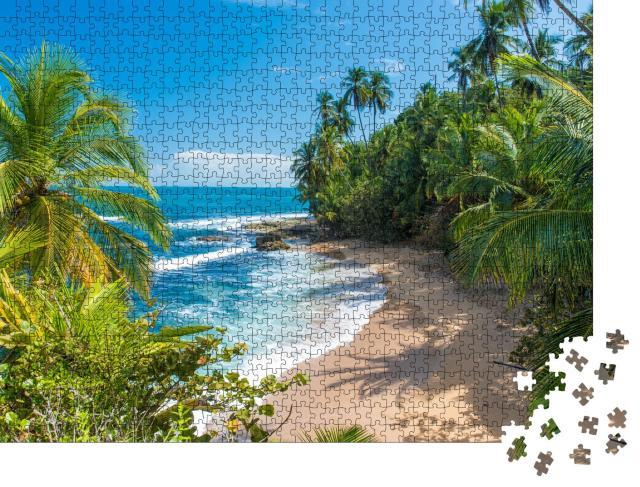 """Puzzle 1000 Teile """"Wunderschöner karibischer Strand bei Puerto Viejo, Costa Rica"""""""