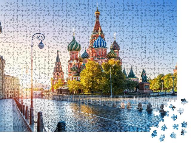 """Puzzle 1000 Teile """"Die Basilius-Kathedrale auf dem Roten Platz in Moskau"""""""