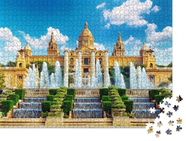 """Puzzle 1000 Teile """"Nationalmuseum in Barcelona, Spanien"""""""
