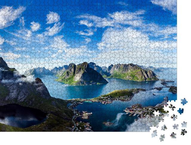 """Puzzle 1000 Teile """"Die Lofoten, Inselgruppe in der Region Nordland, Norwegen"""""""