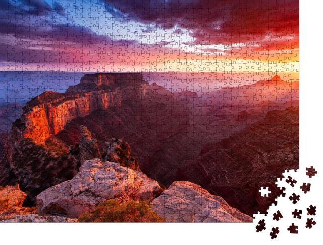 "Puzzle 1000 Teile ""North Rim des Grand Canyon, Cape Royal, Arizona, USA"""