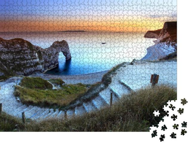 """Puzzle 1000 Teile """"Sonnenuntergang in Dorset, England"""""""