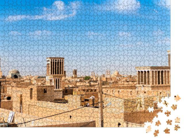 """Puzzle 1000 Teile """"Ansicht eines traditionellen iranischen Windfangturms, Yazd, Iran"""""""