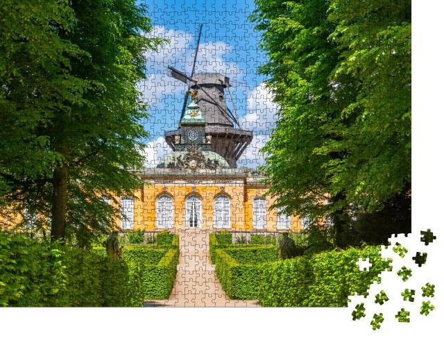 """Puzzle 1000 Teile """"Schloss Neue Kammern und Windmühle im Park Sanssouci, Potsdam"""""""