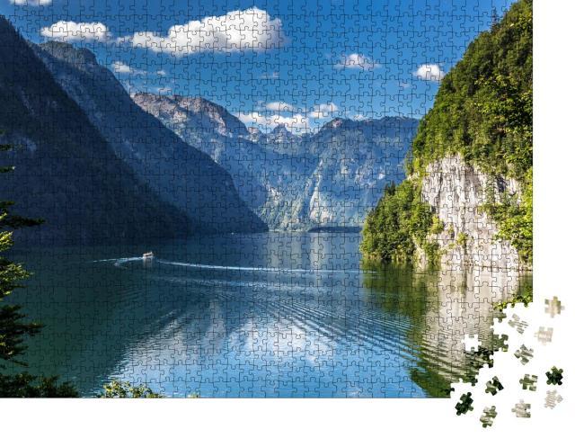 """Puzzle 1000 Teile """"Idyllischer Alpensee: Königssee, Berchtesgaden, Bayern"""""""