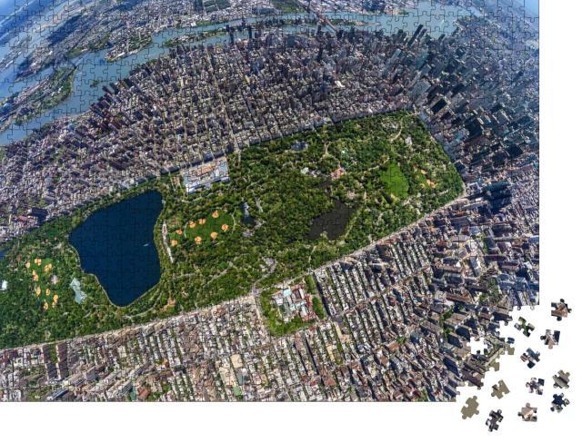 """Puzzle 1000 Teile """"Central Park Manhatten von oben - Little Planet Effect"""""""