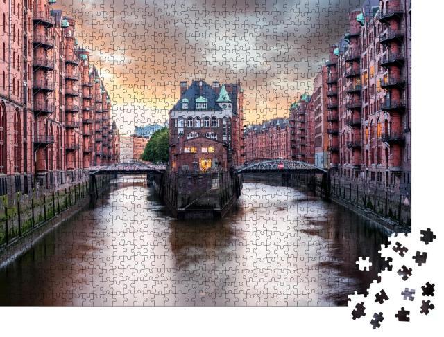 """Puzzle 1000 Teile """"Hamburger Speicherstadt"""""""