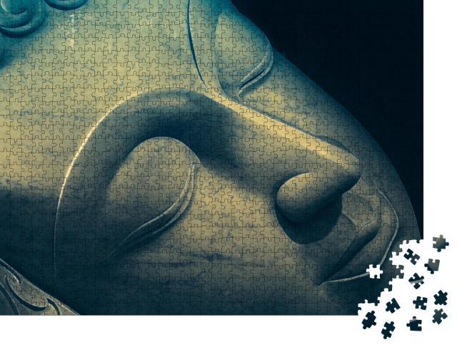 """Puzzle 1000 Teile """"Kunstvoll: Nahaufnahme des schlafenden Buddha"""""""