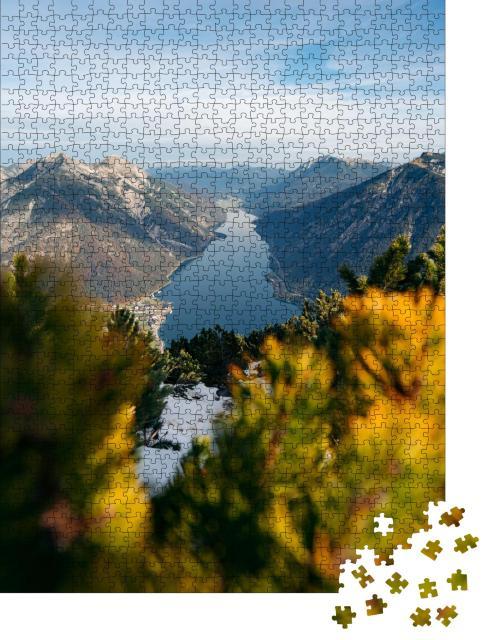 """Puzzle 1000 Teile """"Panoramablick auf den Achensee im Sonnenaufgang, Österreich"""""""