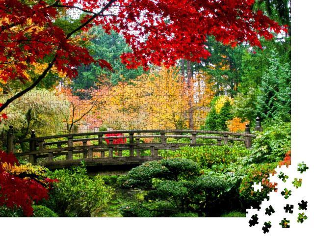 """Puzzle 1000 Teile """"Herbst in einem japanischen Garten"""""""