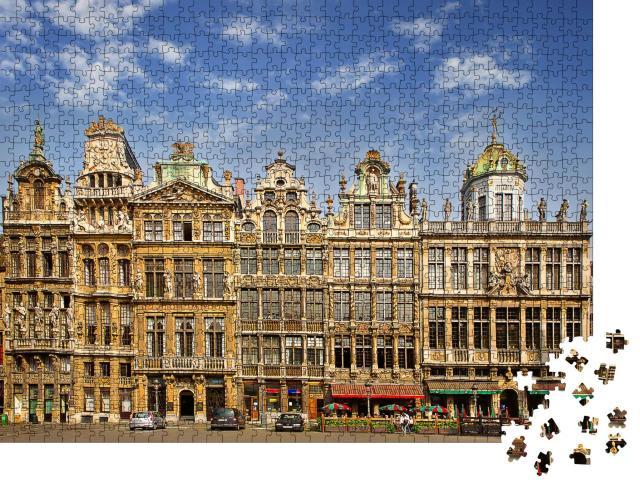 """Puzzle 1000 Teile """"Der Hauptplatz von Brüssel, Belgien, UNESCO-Welterbestätte"""""""
