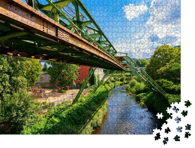 """Puzzle 1000 Teile """"Schwebebahn in Wuppertal, Deutschland"""""""