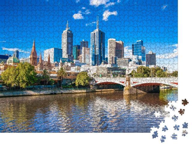 """Puzzle 1000 Teile """"Skyline von Melbourne, Australien"""""""
