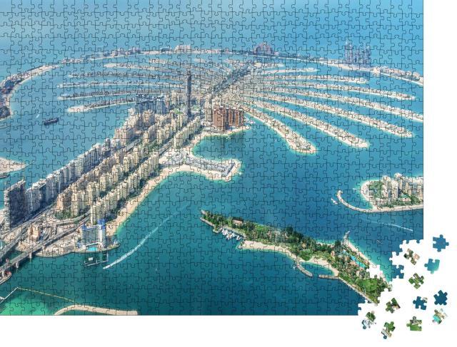 """Puzzle 1000 Teile """"Dubai Palm Jumeirah, Vereinigte Arabische Emirate"""""""