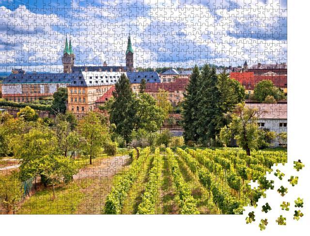 """Puzzle 1000 Teile """"Bamberg mit den Weinbergen des Michaelsbergs, Deutschland"""""""