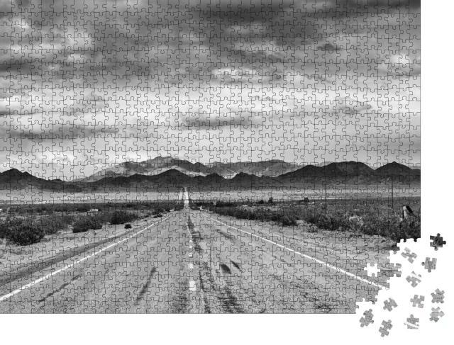 """Puzzle 1000 Teile """"Historische Route 66 entlang der Mojave-Wüste"""""""