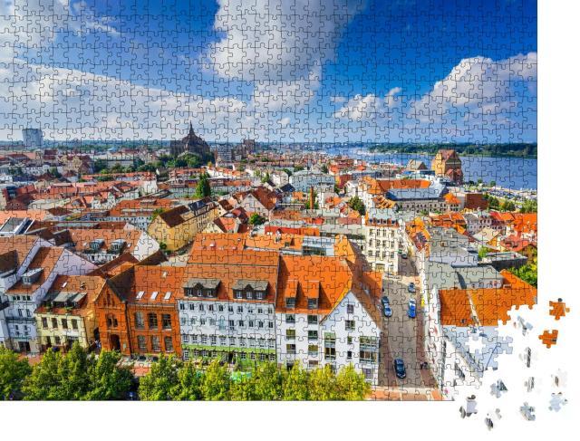 """Puzzle 1000 Teile """"Altstadt von Rostock, Deutschland"""""""