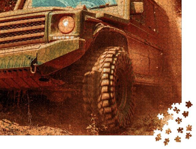 """Puzzle 1000 Teile """"Offroad-Truck im Schlamm"""""""