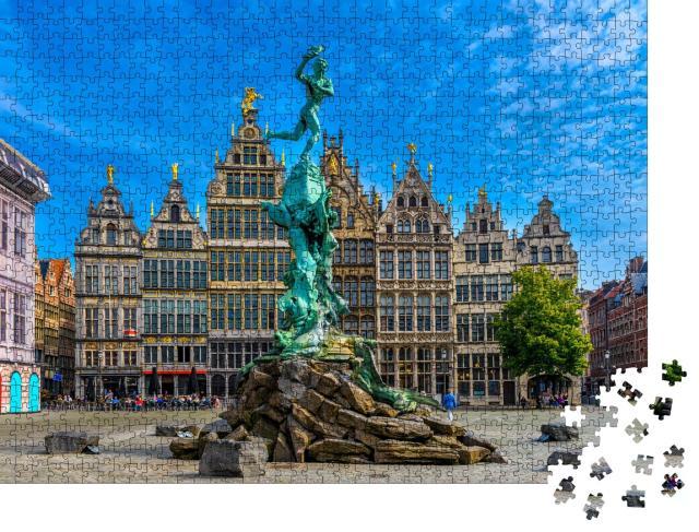 """Puzzle 1000 Teile """"Der Grote Markt von Antwerpen , Belgien"""""""