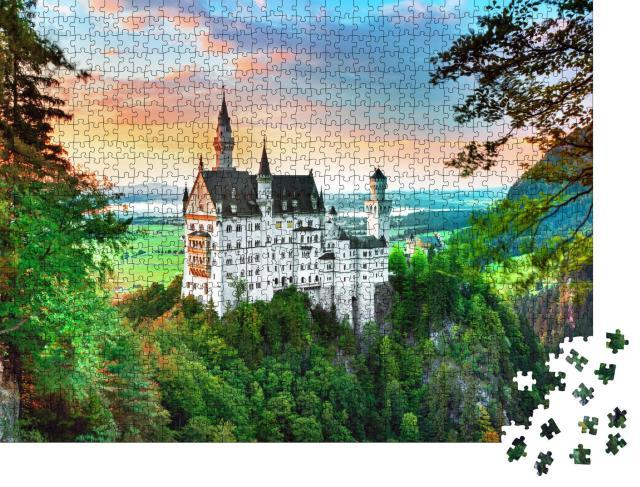 """Puzzle 1000 Teile """"Schloss Neuschwanstein bei München in Bayern, Deutschland"""""""