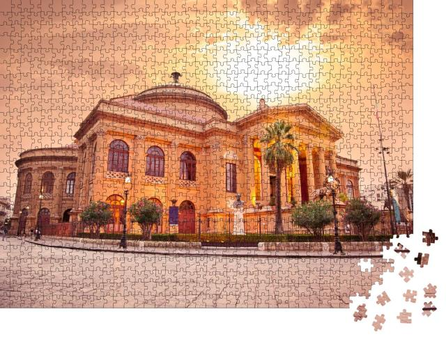 """Puzzle 1000 Teile """"Teatro Massimo, Opernhaus in Palermo, Sizilien"""""""