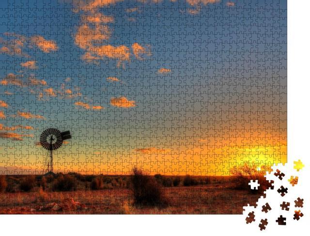 """Puzzle 1000 Teile """"Windmühle im abgelegenen australischen Outback"""""""
