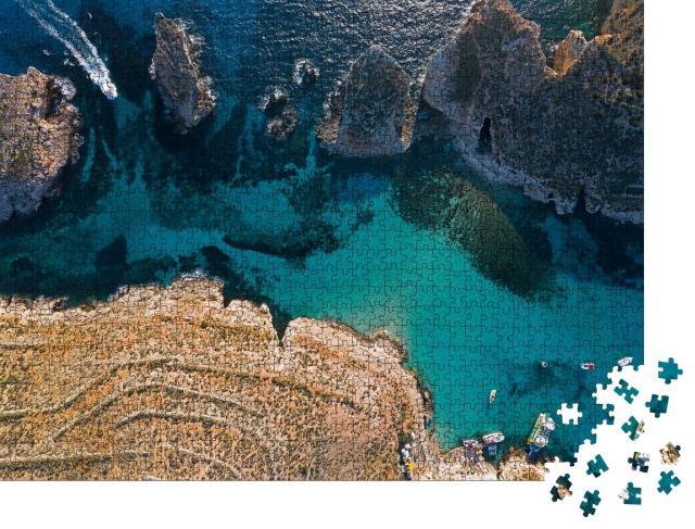 """Puzzle 1000 Teile """"Luftaufnahme der Blauen Lagune auf Malta"""""""