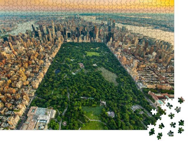 """Puzzle 1000 Teile """"Luftaufnahme von Manhatten und Central Park, New York"""""""