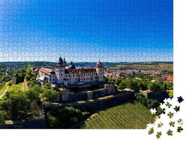 """Puzzle 1000 Teile """"Festung Marienberg mit Main und Altstadt, Würzburg, Deutschland"""""""