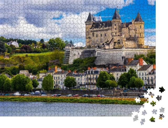 """Puzzle 1000 Teile """"Mittelalterliches Schloss in Saumur, Loire-Tal, Frankreich"""""""