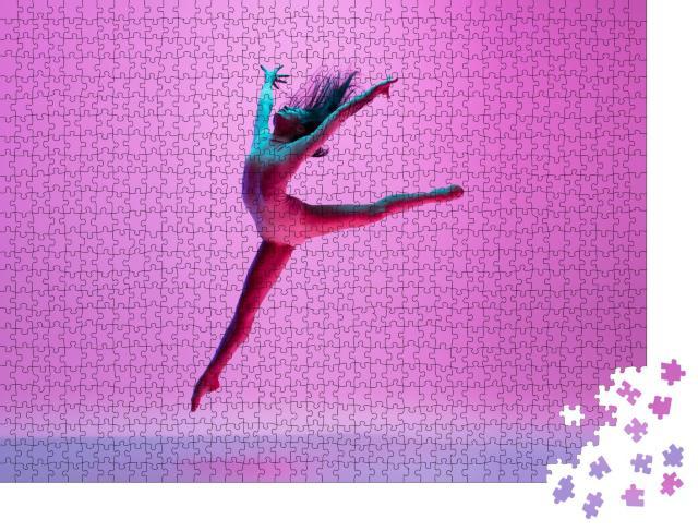 """Puzzle 1000 Teile """"Spiel mit der Schwerkraft: Eine Balett-Tänzerin"""""""