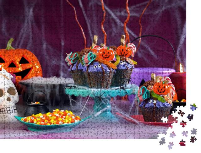 """Puzzle 1000 Teile """"Halloween-Candyland"""""""